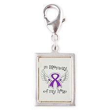 Alzheimer Disease In Memory Silver Portrait Charm