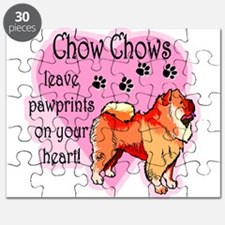 Chow Chow Pawprints Puzzle