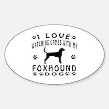 Foxhound design Sticker (Oval)