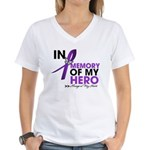 Alzheimer Disease In Memory Women's V-Neck T-Shirt
