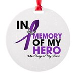 Alzheimer Disease In Memory Round Ornament