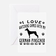 German Pinscher design Greeting Card