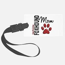 American Foxhound Mom 2 Luggage Tag