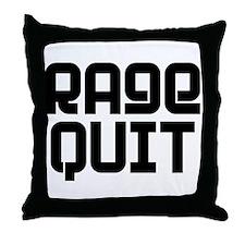 RAGE QUIT! Throw Pillow