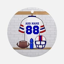 Personalized American Football Grid Iron WRB Ornam