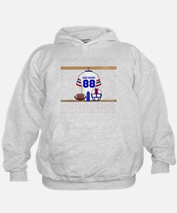 Personalized American Football Grid Iron WRB Hoodie