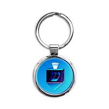 Delightful Dreidels-lettered Round Keychain