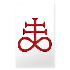 Satanic Cross Decal