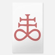 Satanic Cross Sticker (Rectangle)