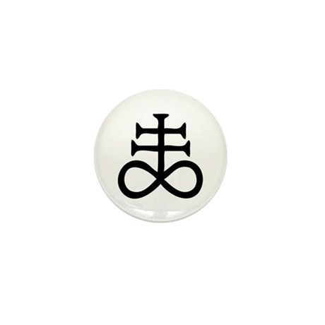 Satanic Cross Mini Button