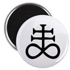 Satanic Cross Magnet