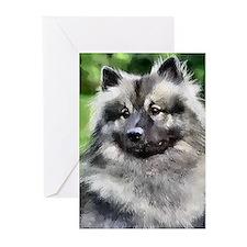 Keeshond Art Greeting Cards (Pk of 10)