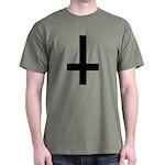 Upside Down Cross Dark T-Shirt