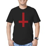 Upside Down Cross Men's Fitted T-Shirt (dark)