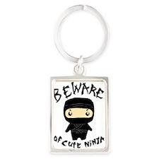 Cute Ninja Portrait Keychain