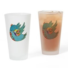 Cute happy bird Drinking Glass