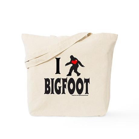 I HEART/LOVE BIGFOOT Tote Bag