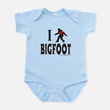 I HEART/LOVE BIGFOOT Infant Bodysuit