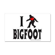 I HEART/LOVE BIGFOOT Car Magnet 20 x 12