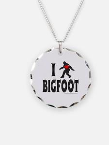 I HEART/LOVE BIGFOOT Necklace