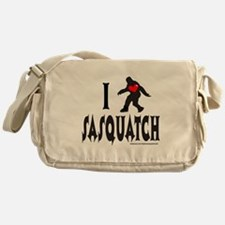 I HEART/LOVE SASQUATCH Messenger Bag