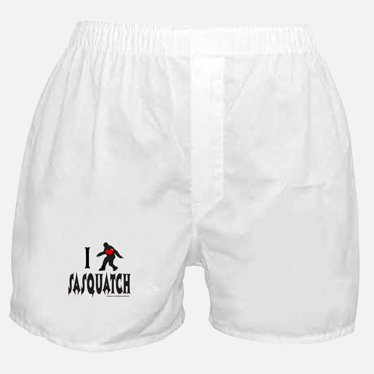 I HEART/LOVE SASQUATCH Boxer Shorts