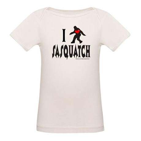 I HEART/LOVE SASQUATCH Organic Baby T-Shirt