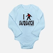 I HEART/LOVE SASQUATCH Long Sleeve Infant Bodysuit