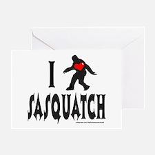 I HEART/LOVE SASQUATCH Greeting Card