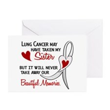 Beautiful Memories Lung Cancer Greeting Cards (Pk