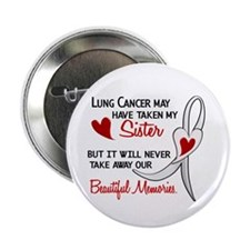 "Beautiful Memories Lung Cancer 2.25"" Button (10 pa"