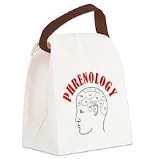 Phrenology head chart Canvas Lunch Bag