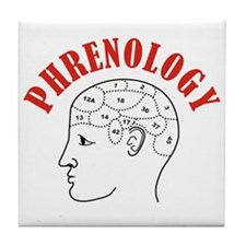Phrenology head chart Tile Coaster