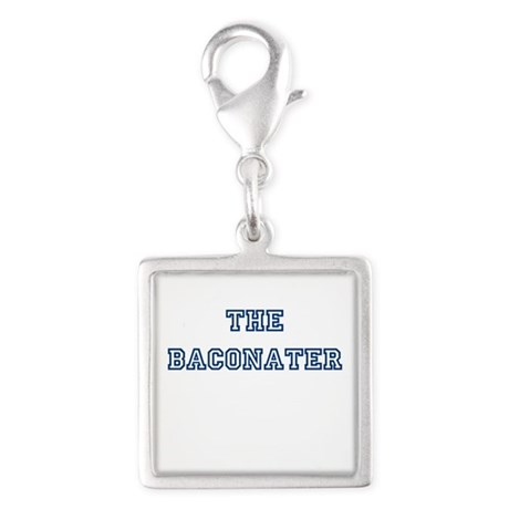 The Baconater Silver Square Charm