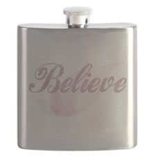 Believe Pink Flask