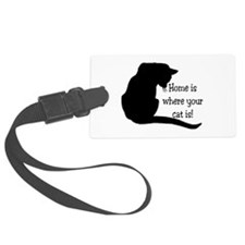 Home Cat Luggage Tag