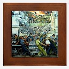 Diego Rivera Detroit Industry Framed Art Tile