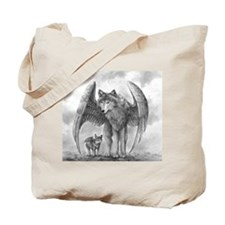 Winged Wolves Tote Bag