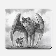 Winged Wolves Mousepad