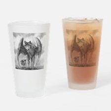 Winged Wolves Drinking Glass