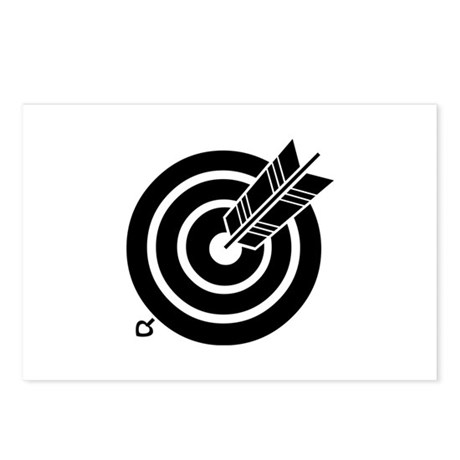 Arrow hit a round target Postcards (Package of 8)