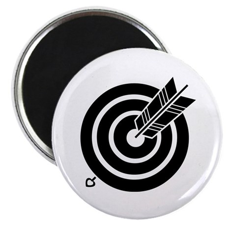 "Arrow hit a round target 2.25"" Magnet (10 pack)"