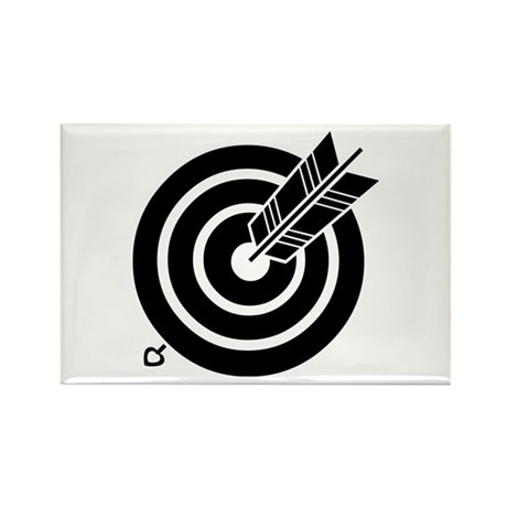 Arrow hit a round target Rectangle Magnet (100 pac