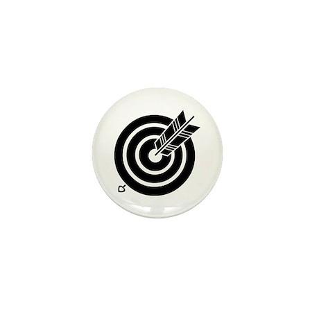 Arrow hit a round target Mini Button