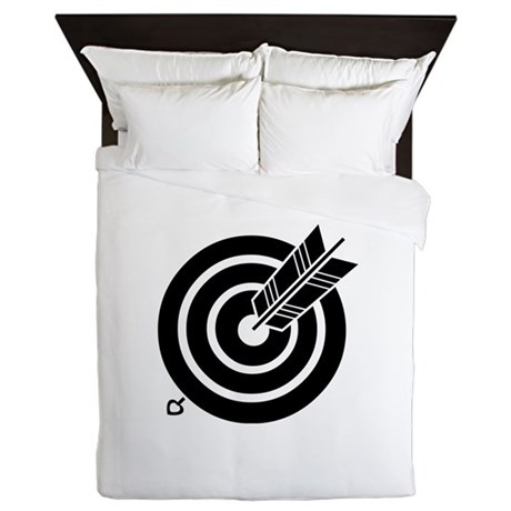 Arrow hit a round target Queen Duvet