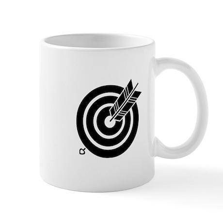 Arrow hit a round target Mug
