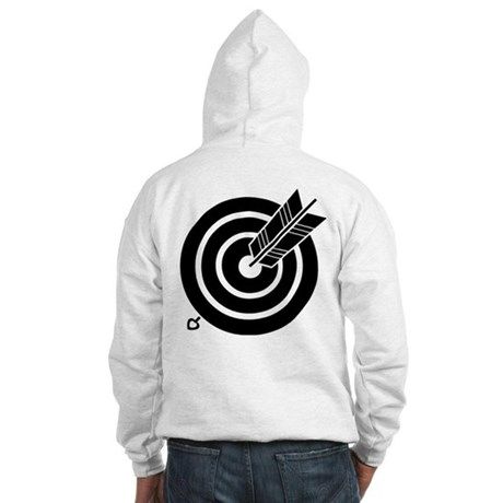 Arrow hit a round target Hooded Sweatshirt