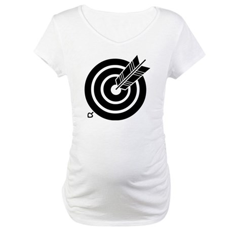 Arrow hit a round target Maternity T-Shirt