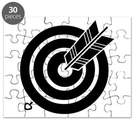 Arrow hit a round target Puzzle