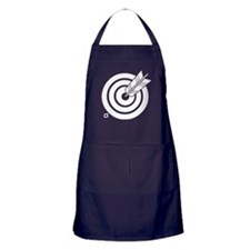 Arrow hit a round target Apron (dark)